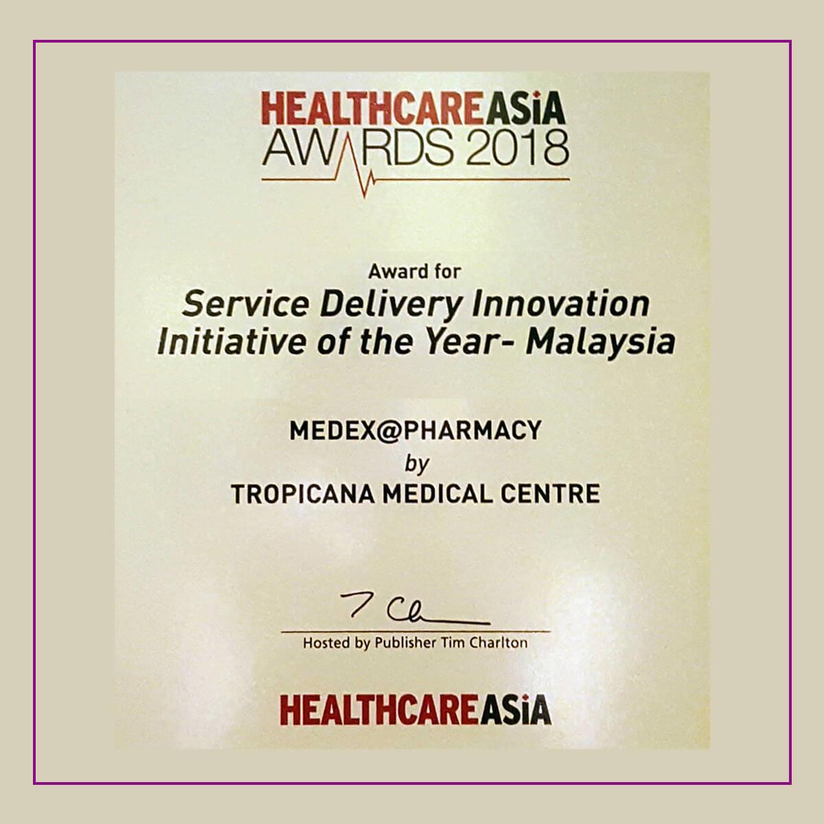 THKD Awards Healthcare Asia Award 2018