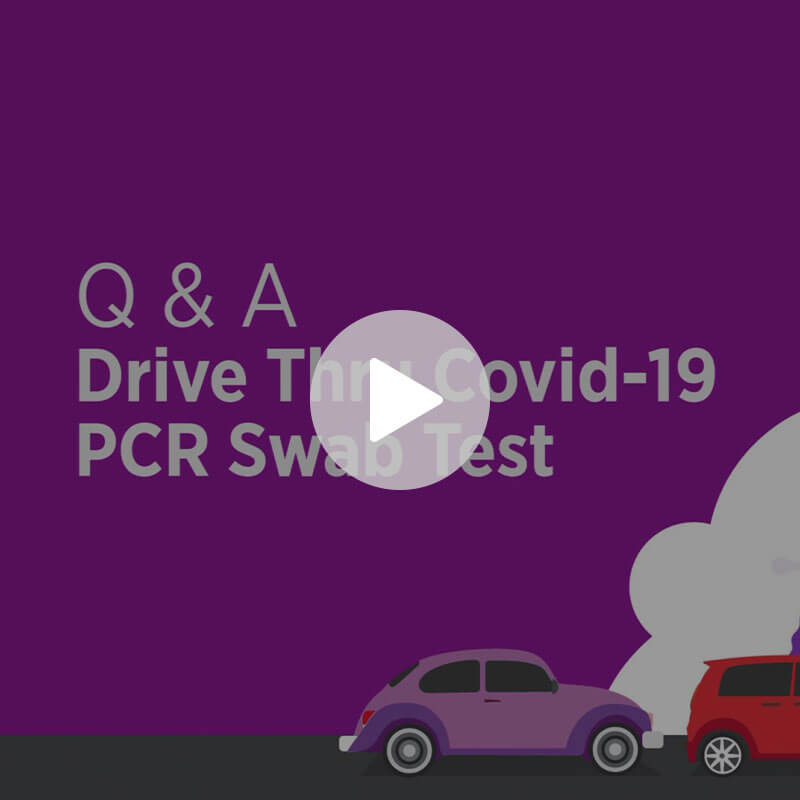 Drive Thru Covid-19 PCR Swab Test