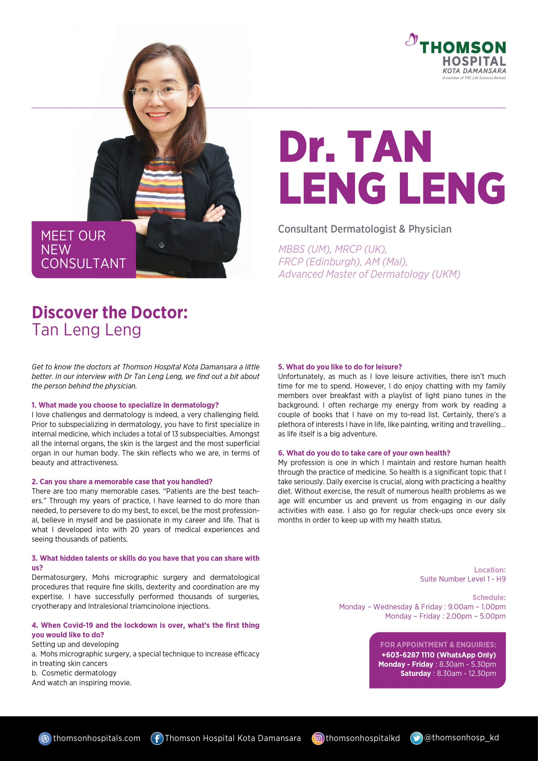 Dr Tan Leng Leng Know about Doctor